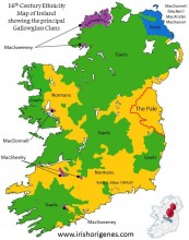 The most notable Gallowglass and Scottish Clans in Pre-Plantation Ireland.