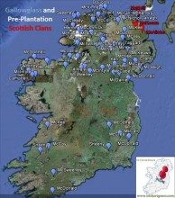 Gallowglass and Pre-Plantation Scottish Surnames in Ireland.