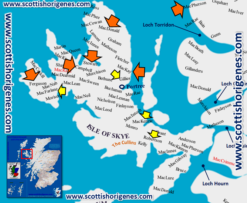 The Isle of Skye 'the Genetic land of the Scots' | Scottish ... Dna Map Of The World on